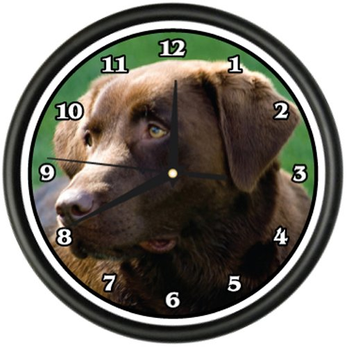 CHOCOLATE LABRADOR Wall Clock dog doggie pet breed gift