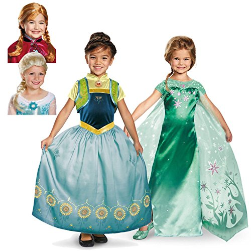 Disney Frozen Fever Anna + Elsa Child Costume Kit Toddler