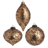 RAZ Imports - Antiqued Bronze Glass Ornaments