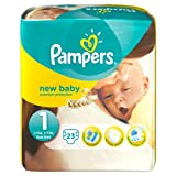 Pampers Windeln New Baby Gr.1 Newborn 2-5 kg Tragepack, 4er Pack (4 x 23 Stück)