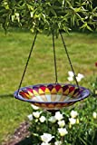 Evergreen Enterprises EG2GB218 Tiffany Hanging Glass Bird Bath