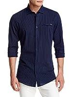 ZZ_RNT23 Camisa Hombre (Azul Marino)