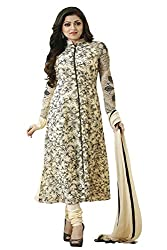 Jashvi Creation Women's Printed Unstitched Regular Wear Dress Material (JC_440_Red & Cream)