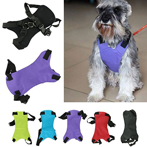 Voberry Cute Dog Cat Pet Vehicle Safety Seat Belt Seatbelt Car Harness Vest Size Small(Neck 42Cm - 62Cm, Chest 48Cm - 68Cm) (S Purple) front-41669