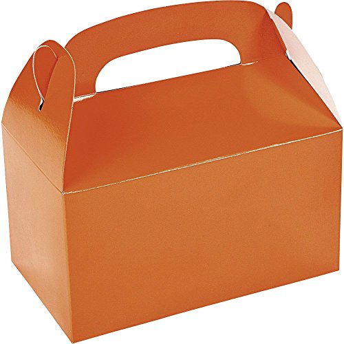 Fun Express BB33597 Orange Treat Favor Boxes -6 Pack