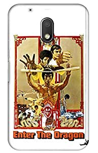 iessential bruce lee Designer Printed Back Case Cover for Moto G Play, 4th Gen