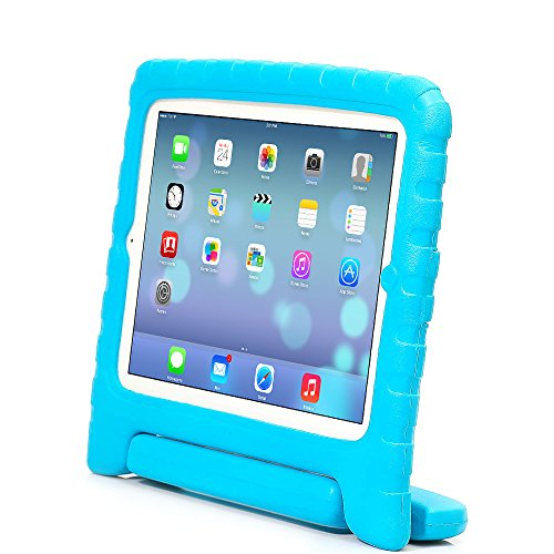 iPad Mini Case - Travellor® Kids Light Weight Kido Series Multi Function Convertible Handle Kickstand Kids Friendly Protective Shockproof Cover with Stand & Handle for Apple iPad Mini (Blue)