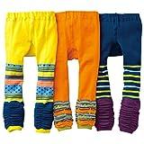 [backbuy] 3pantalones 0-3Años Bebé Boys infantil Leggings pantalones punto pantalones PJ16 Talla:18-24 meses