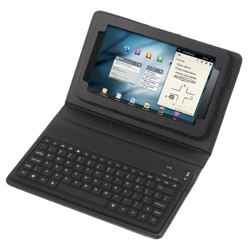Wireless Bluetooth Keyboard + Leather Case Stand