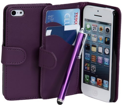 connect-zoner-ipod-touch-5-5th-gen-purple-pu-premium-flip-wallet-case-cover-pouch-screen-protector-w