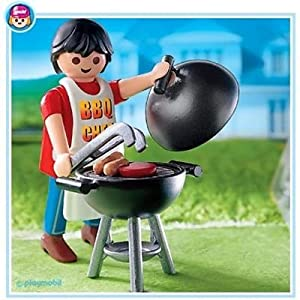 Amazon.com: Playmobil Dad with Barbeque: Toys & Games