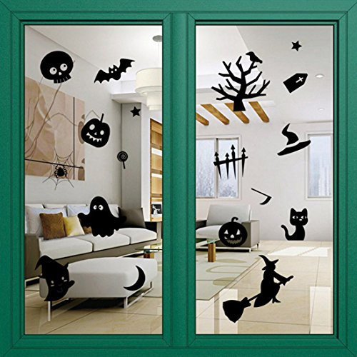 Halloween Decoration Wall sticker, Decro for window ,wall stickers ,living room ,bedroom,shopping mall (Cute Halloween Tombstone Sayings)