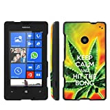 Mobiflare Nokia Lumia 520 Windows Phone Keep Calm Hit the Bong Slim Guard Protect Artistry Design Case