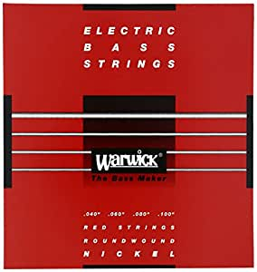 WARWICK ワーウィック エレクトリック・ベース 弦 46210 RED Nickel 4-Strings Set Medium Light 040/100