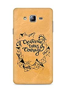 AMEZ creativity takes courage Back Cover For Samsung Galaxy ON5