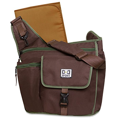 Diaper Dude Sport Bag by Chris Pegula - Brown Sling Messenger Diaper Bag by DD Sport