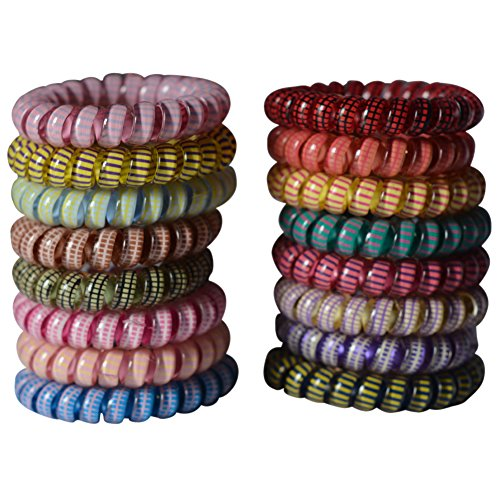 Bzybel 10 Pcs Colorful Telephone Wire Cord Elastic Head Tie Hair Band Hair TIes Ponytail Holders (Hair Ties Telephone compare prices)