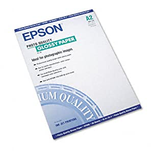 Epson S041123 - Photo-Quality Glossy Paper, 38 lbs., 16-1/2 x 23-1/2, 20 Sheets/Pack