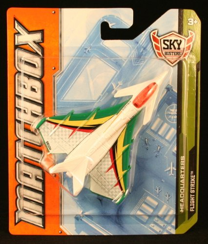 FLIGHT STRIKE * MBX HEADQUARTERS * Die-Cast 2012 MATCHBOX Sky Busters Series Airplane - 1