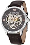 Stuhrling Original Mens 574.03 Aristocrat Executive II Automatic Skeleton Grey Dial Watch
