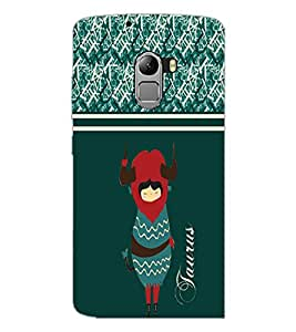 PrintDhaba Zodiac Taurus D-2745 Back Case Cover for LENOVO K4 NOTE A7010a48 (Multi-Coloured)