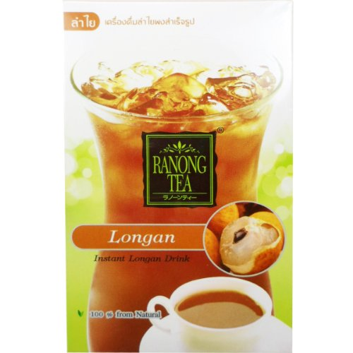 Instant Longan Drink Herbal 100% Natural Net Wt 60 G (10 G X 6 Sachets) Ranong-Tea Brand X 2 Boxes