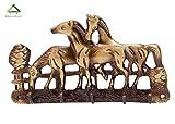 KT Hardware Solutions Horse Shape Key Holder (Brass)