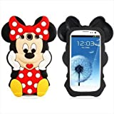 eFuture(TM) Black/Red Disney Minnie Cartoon Mouse Soft Silicone Case Cover Fit For The Samsung Galaxy S3/i9300 +eFuture's nice Keyring