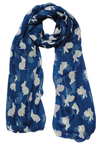 lapin-lapins-et-foulard-imprime-animal-bleu-pour-echarpe-fashion