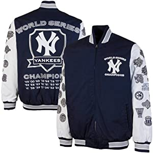 MLB New York Yankees Hall of Fame Commemorative Canvas Full Zip Jacket - Navy Blue by G-III Sports