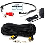51X5Gsm8nzL. SL160 VideoSecu High Sensitive Preamp Tiny Spy Microphone Kit for Security Audio Sound Voice Pickup Device Monitoring Recording Free 50 Feet Cable and Power Supply WE6 Reviews
