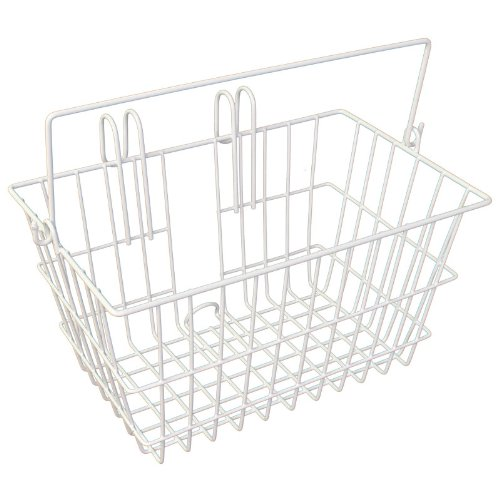 Pyramid Lift Off Bicycle Basket, 14.5 x 8.5 x 7 (White)