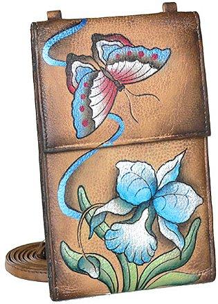 Anuschka Organizer Wallet on a String - Premium Orchid Chocolate - Buy Anuschka Organizer Wallet on a String - Premium Orchid Chocolate - Purchase Anuschka Organizer Wallet on a String - Premium Orchid Chocolate (Anuschka, Apparel, Departments, Accessories, Wallets, Money & Key Organizers, Wallets on a String)