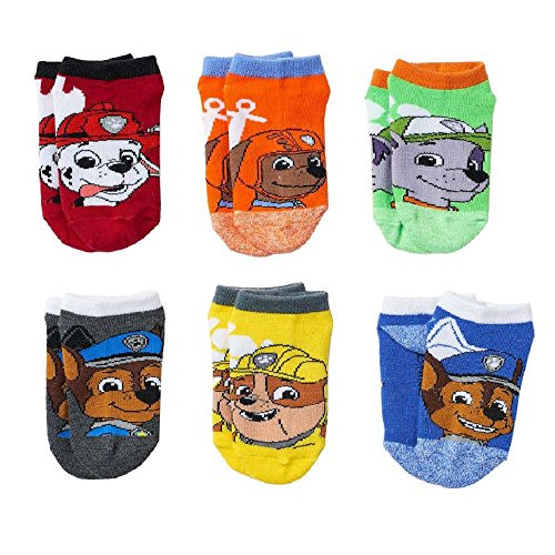 Paw Patrol Little Boys' 6 Pack Socks Size 4-6