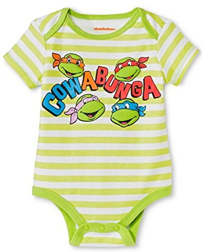 Baby Boys' TMNT Bodysuit One-Piece Infant Creeper (3-6 months)