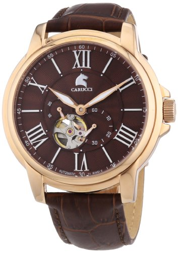 Carucci Watches Men's Automatic Watch Adrano II CA2205RG with Leather Strap