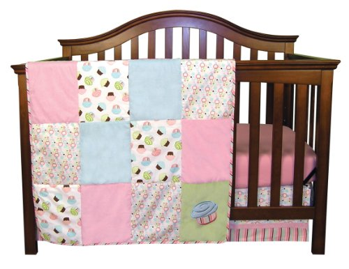 Pink And Teal Baby Bedding 9785 front