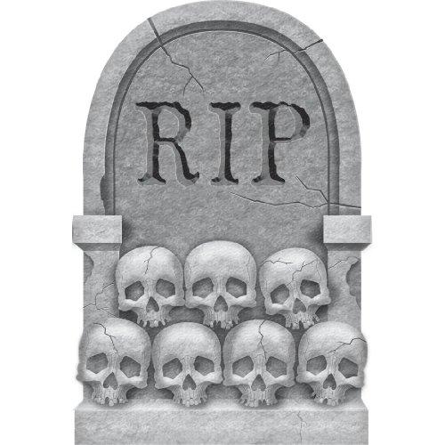"""22"""" Halloween Skulls Tombstone"""
