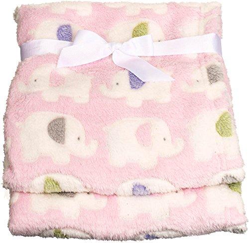 Babydecke Kuscheldecke Schlafdecke Schmusedecke Kinderdecke Decke Krabbel verschiedene Motive und 3 verschiedene Farben (Elefant Rosa)