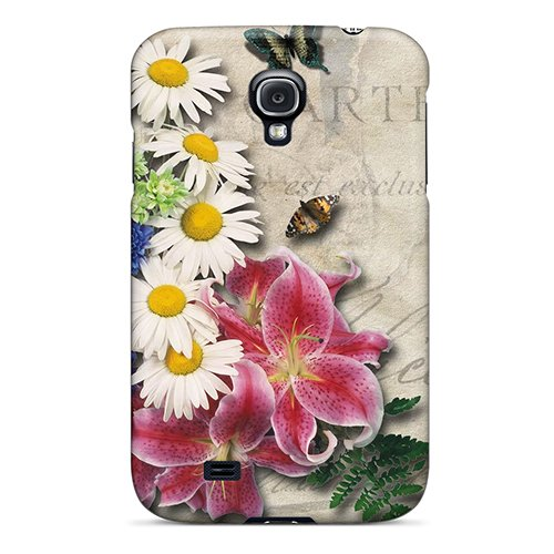 Ugc2060Qzdb Snap On Case Cover Skin For Galaxy S4(Cappucino Flowers)