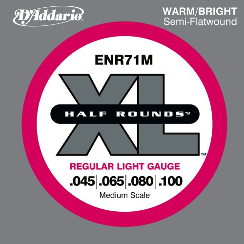 D'Addario ENR71M Half Round Bass Guitar Strings,