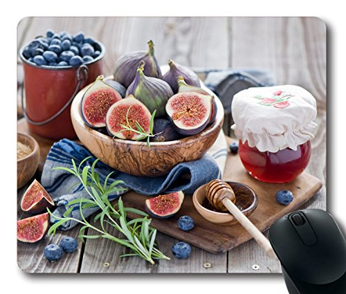 Custom-Attractive-Mouse-Pad-with-Figs-Cranberries-Jam-Honey-Non-Slip-Neoprene-Rubber-Standard-Size-9-Inch220mm-X-7-Inch180mm-X-18-Inch3mm-Desktop-Mousepad-Laptop-Mousepads-Comfortable-Computer-Mouse-M