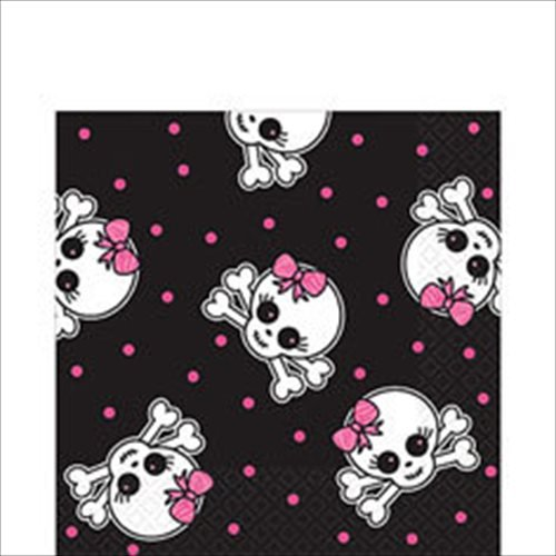 Punk Princess Skull Large Napkins (16ct) - 1