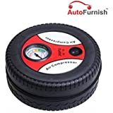 Autofurnish Tire Shape Air Compressor Tyre Inflator Mini Car Air Compressor