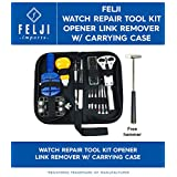 Felji Watch Repair Tool Kit Opener Link Remover Spring Bar Band Pin with Carrying Case