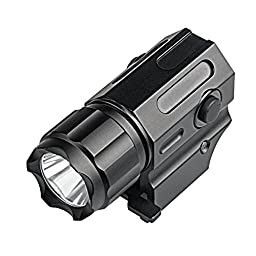 Sinvitron G03 CREE LED Tactical Gun Flashlight 2-Mode 210LM Pistol Handgun Torch Light for Hiking,Camping,Hunting and Other Indoor/Outdoor ActivitiesWith Tactical Switch - Silent Button Function