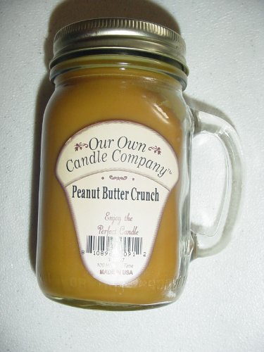 13 oz Peanut Butter Crunch Candle (Our Own Candle Company Brand) Made in USA - 100 hr burn time