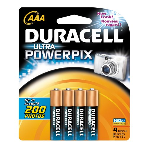 Duracell Power Pix AAA Nickel Oxy Hydroxide Batteries 4 Counts