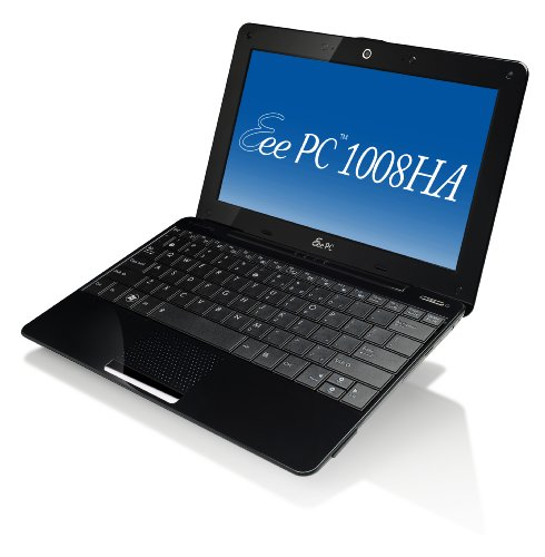 ASUS Eee PC Seashell 1008HA-PU17-BK 10.1-Inch Black Netbook - 6 Hours of Battery Life (Windows 7 Home Premium)