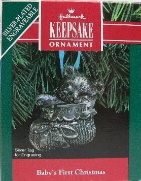 Hallmark Baby's First Christmas Silver Plated Engraveable 1991 - 1